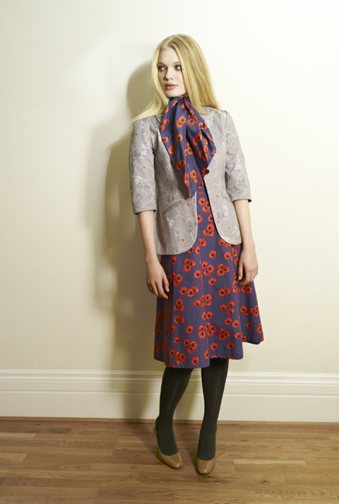 Beautiful Soul AW12 Sakara Blazer-Megan|Scarf-Poppy Navy