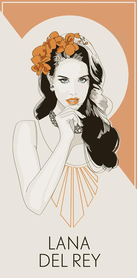 Lana Del Rey by Jo Ley