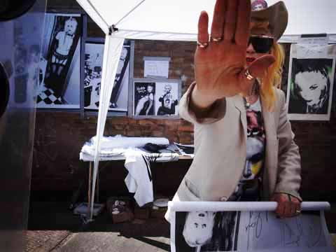 art car boot fair May 2012 -pam hogg