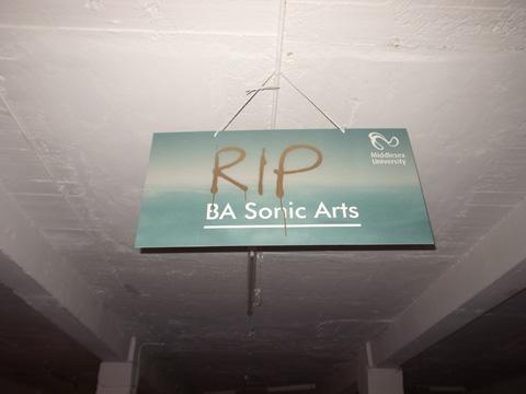 Middlesex University sonic arts