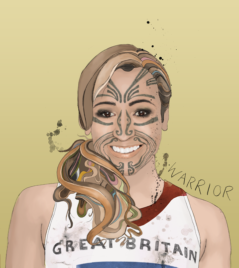 Jessica Ennis - Warrior - by James Pitman