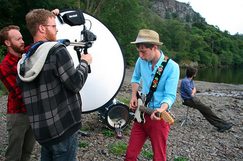 Alex from Kotki Dwa at the making of the video for Staycations