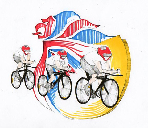 Olympics 2012 Women Cycling by Kristina Vasiljeva