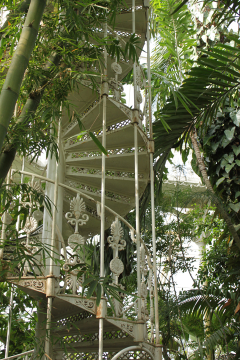 Corrie Nielsen Stairs in a glass house at Kew