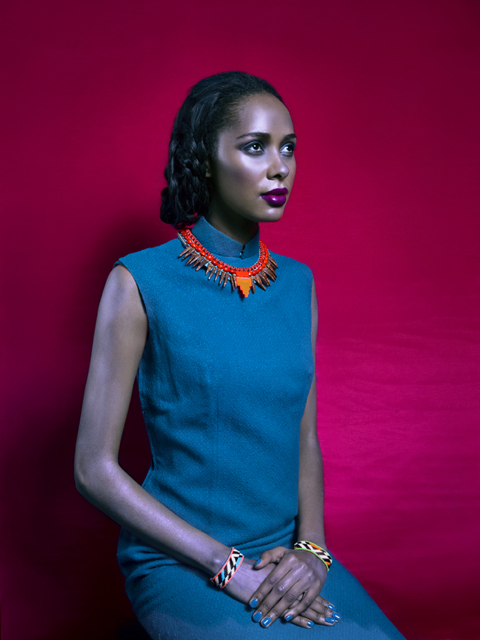 Fiona Paxton Green dress - Yasuko necklace