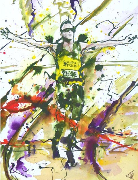 Pistorius Victorious by claire jones art