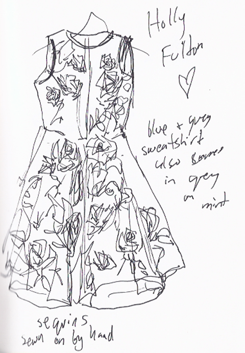 jenny robins - amelias magazine - lfwss13 -  sketch blog - holly fulton
