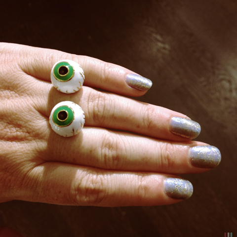 Me & Zena Revenge of the Eyeball ring