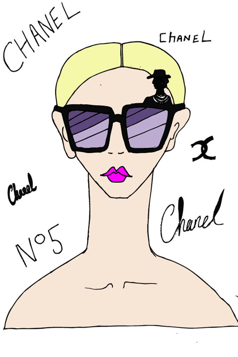 chanel sunglasses illustration shyillustrations