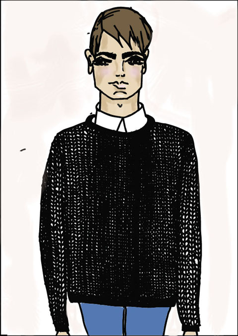 EDE Knitwear by Shy Illustrations
