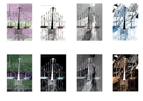 amelias magazine - london college of fashion - paradise lost - Digital Catwalk - Sunny De Las Alas cityscape prints