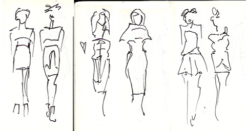 amelias magazine - london college of fashion - paradise lost - Digital Catwalk -  jenny robins sketches 1