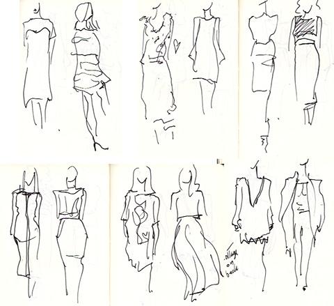 amelias magazine - london college of fashion - paradise lost - Digital Catwalk -  jenny robins sketches 3