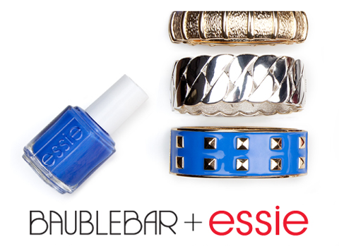 Baublebar and Essie christmas gift nail art