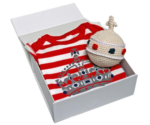 Hokolo baby gift set christmas rattle babygro