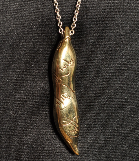 Long Pea Pod Necklace by Comfort Station