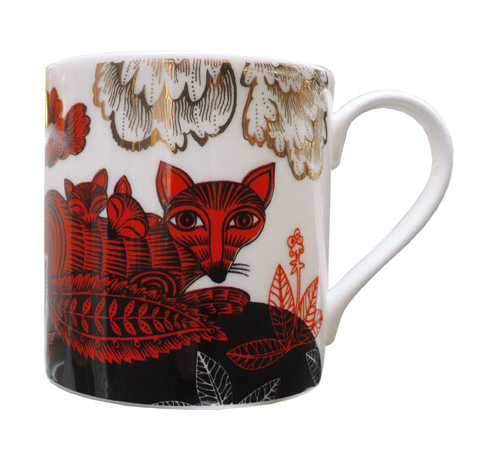 Lush Designs Fox and Cubs Mug