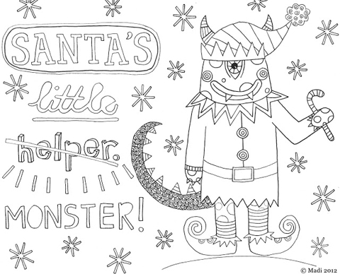 Madi Illustration Santa's little monster
