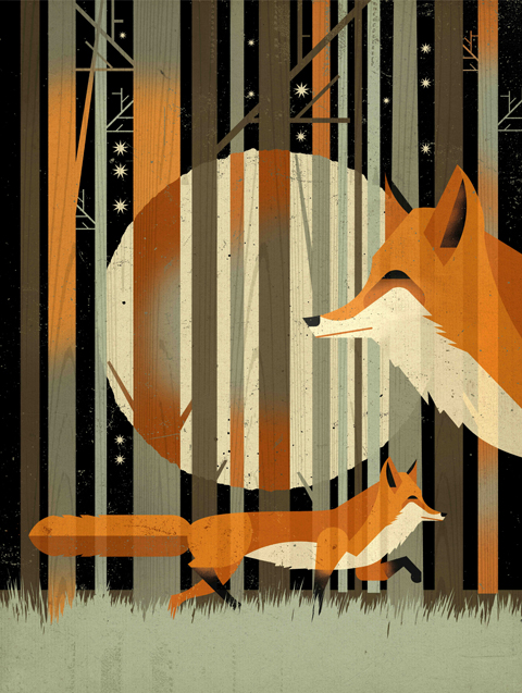 Midnight Foxes By Dieter Braun