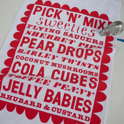 Mr PS old fashioned sweetie type tea towel