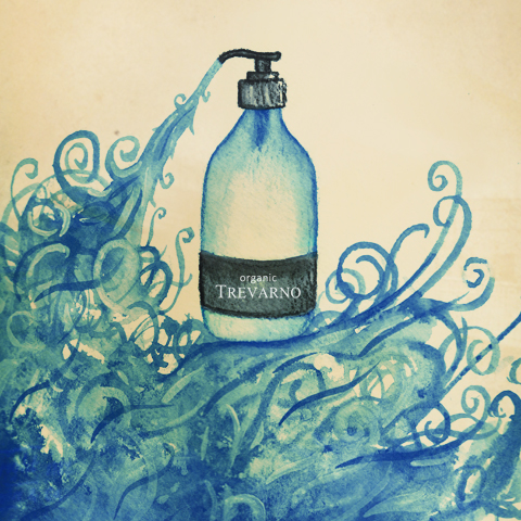Trevarno Organic Skin Product Illustration by Alice Jamieson