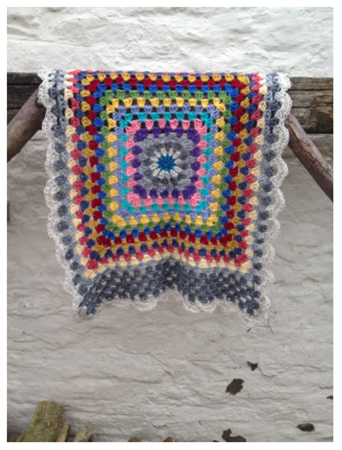 amelia baby crochet blanket by Kate Selene