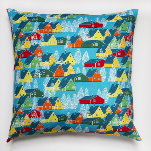 ben the illustrator greenland multicoloured cushion