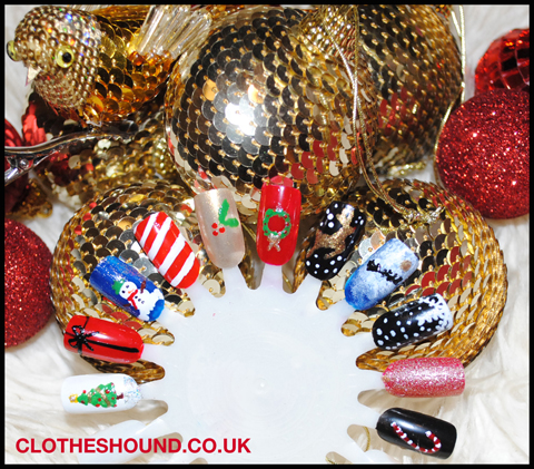 clotheshound_christmas nail art