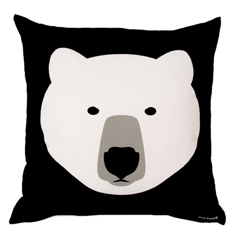 howkapow white bear paul farrell cushion