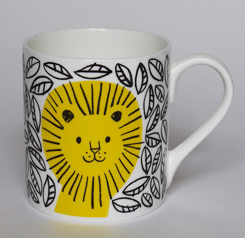 lisa jones jungle lion mug