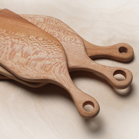 london plane chopping boards by Hampson Woods
