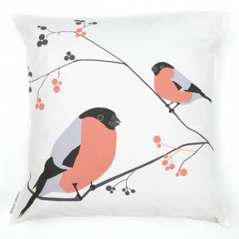 lorna syson Bullfinch cushion