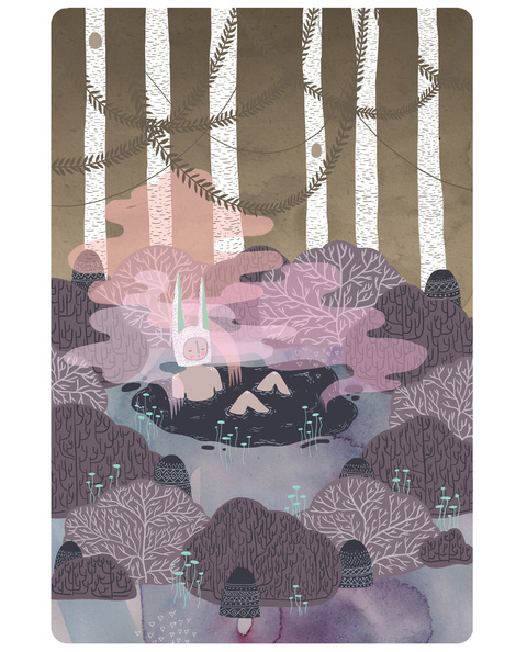 marinamuun Forest-Chill-Time_Print