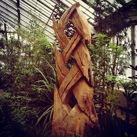 David Nash exhibition Kew Gardens David Nash wooden plait #kew