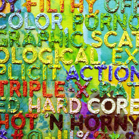 London Art Fair 2013 Mel Bochner words