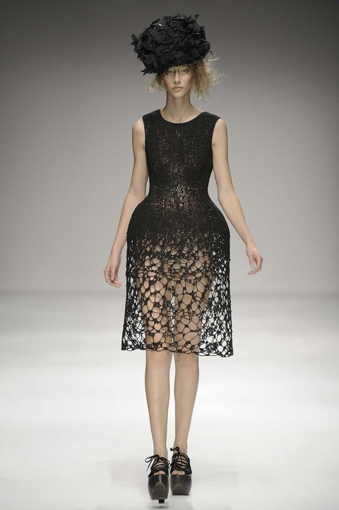 Black lace Rocha dress now part of 50 Fabulous Frocks Exhibition