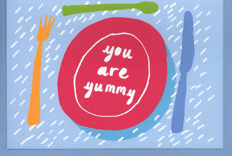 Dereks Shop You are Yummy valentine card