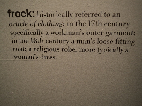 Wall text at Fashion Museum, Bath
