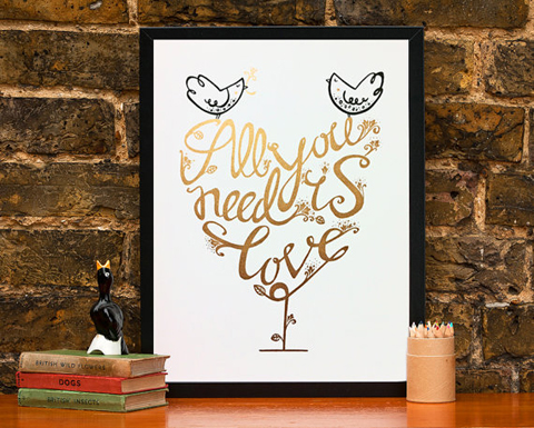 Helen Lang All you need is love print