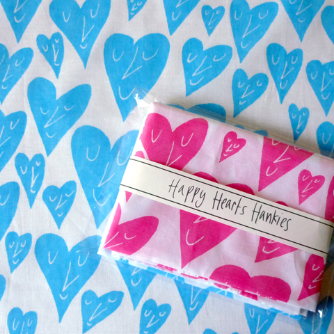 MrPS happy hearts Hankies
