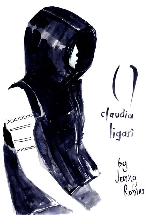 claudia ligari hood - lfw - aw13 - jenny robins - amelias magazine