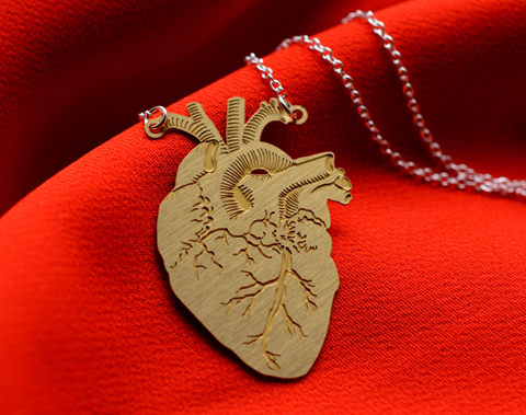 dowse design anatomy brass pendant