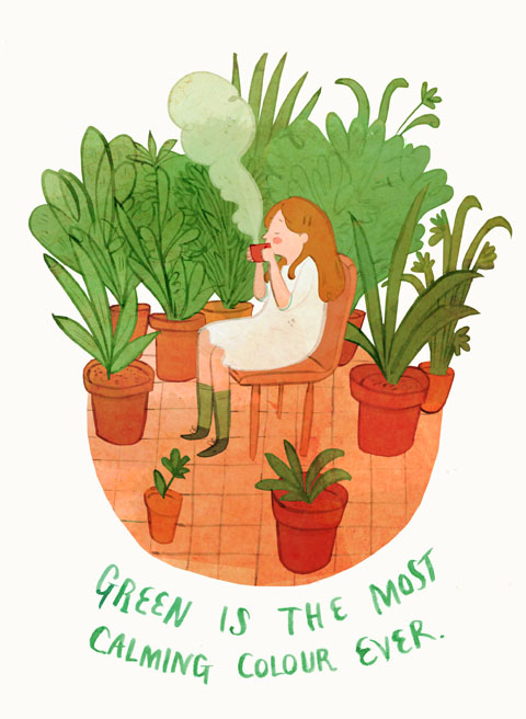 green is such a relaxing colour by Joanna Boyle