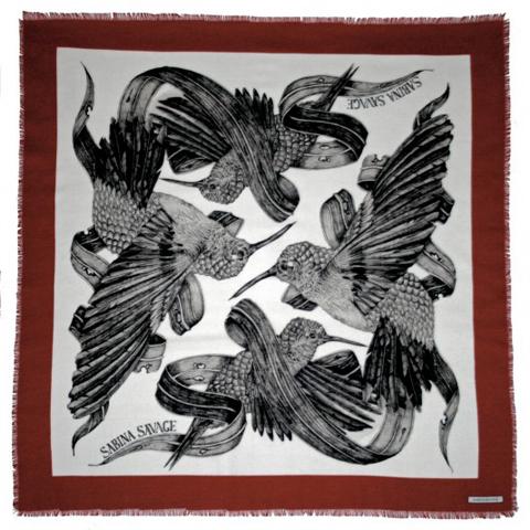 sabina savage hummingbird scarf