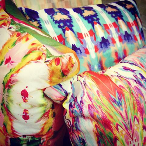 Dionne Sylvester digital print cushions
