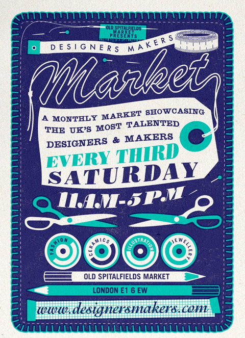 designers makers market flyer