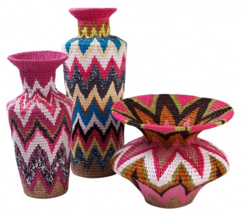 Gone Rural Fluoro Fabric Vases