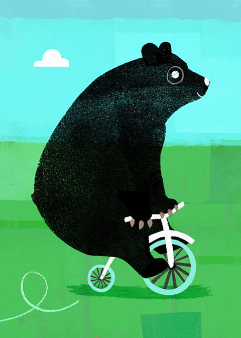Jessie Ford black bear on bike