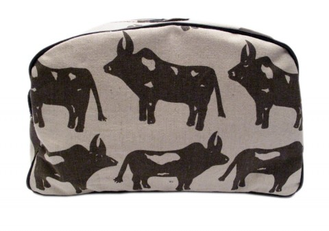 Mongoose ladies toiletry bag cows