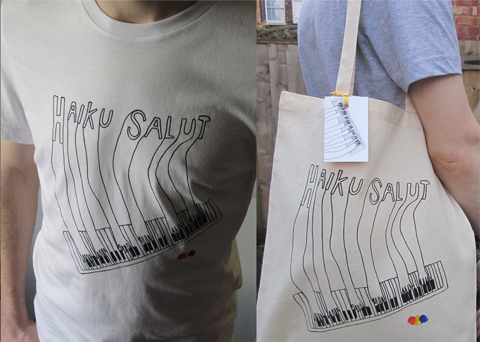 Piano hands tee & tote by Katrine Brosnan